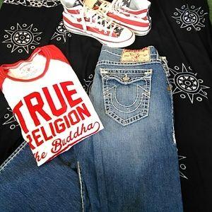 mens true religion ricky super t size 38 x 33